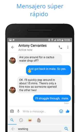 Messenger para mensajes de texto, vídeo chat y más 3