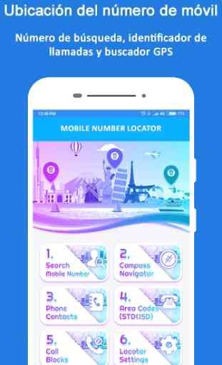 Rastreador de ubicación de número móvil 4