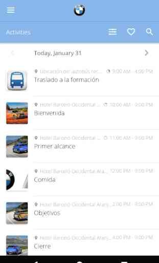 Agenda Formación BMW 2