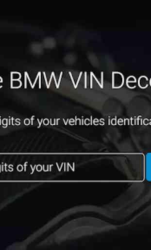 Bimmer VIN Decoder for BMW 4