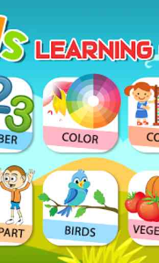 Preschool Learning - Kids ABC, Number, Color & Day 1