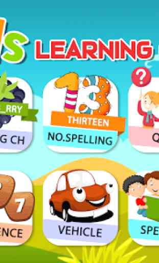 Preschool Learning - Kids ABC, Number, Color & Day 2