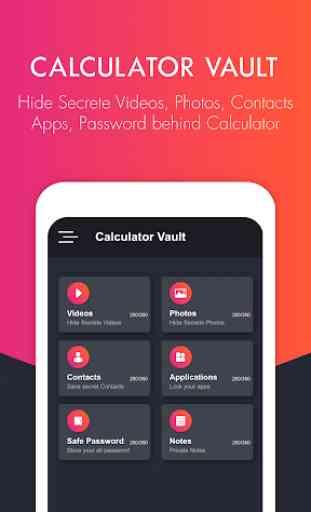 Calculator Vault: Secrete Photo, Video & Password 1