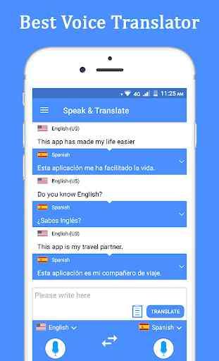 Habla y traduce traductor e intérprete de voz. 1