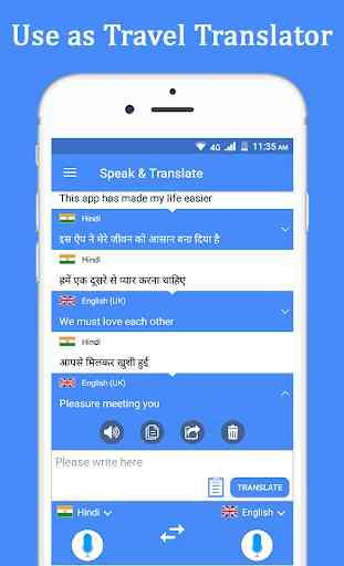 Habla y traduce traductor e intérprete de voz. 4