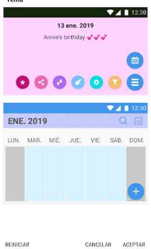 Calendario España 2019 y 2020. 3