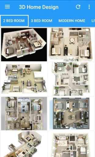 3D Home Designs: Plan de Casa Designs y vídeos 1