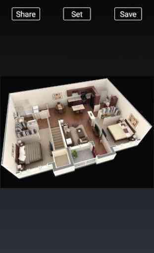 3D Home Designs: Plan de Casa Designs y vídeos 2