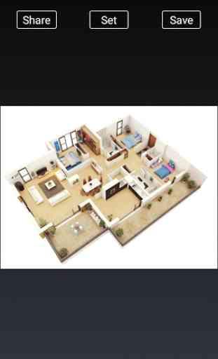 3D Home Designs: Plan de Casa Designs y vídeos 4