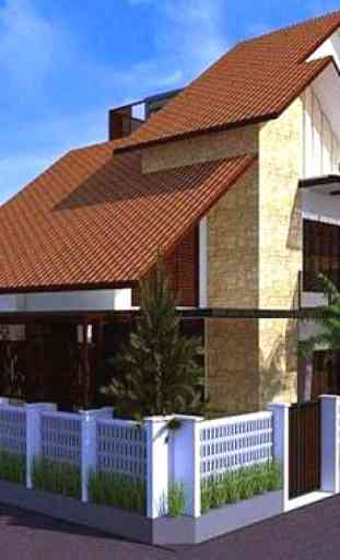 Diseño de Casa, Techo, Plan 3D Completo 1