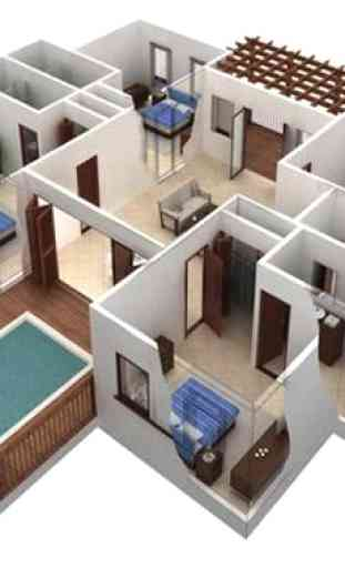 Diseño de Casa, Techo, Plan 3D Completo 3