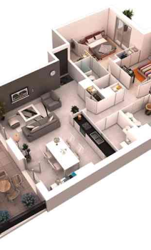 Disposición del plan sitio 3D 1