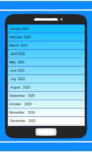 Calendar in English 2020 Free 2