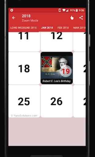 Calendario de Florida - Festival y Nota (2020) 3
