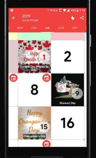 Canada Calendar - Holiday & Note (Calendar 2020) 2