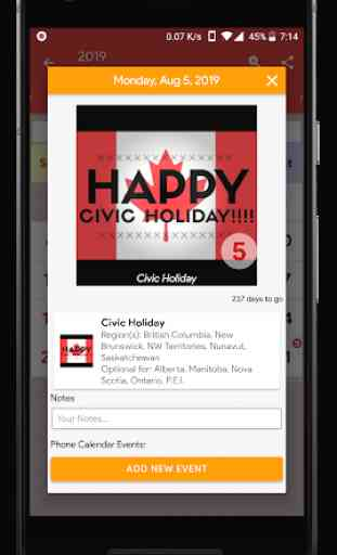 Canada Calendar - Holiday & Note (Calendar 2020) 3