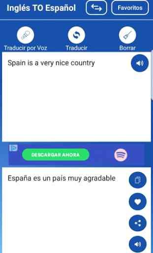 Traductor Español Ingles/Inglés Español Voz Texto 3
