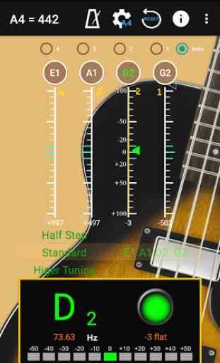 Bajo Sintonizador - Bass Guitar Tuner 1