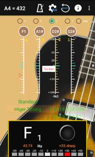 Bajo Sintonizador - Bass Guitar Tuner 3