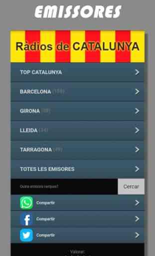 Radios de Cataluña FM online en directo - España 1