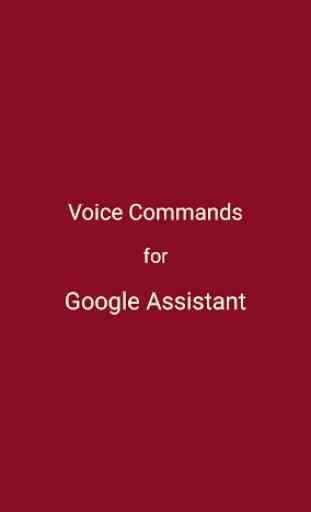 Voice Commands for Google Assistant 1