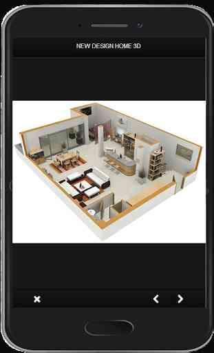 Nuevo diseño de hogar en 3D 3