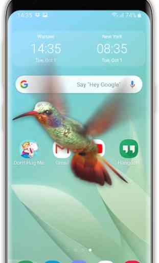 Pájaro en el teléfono: colibrí volador broma 1