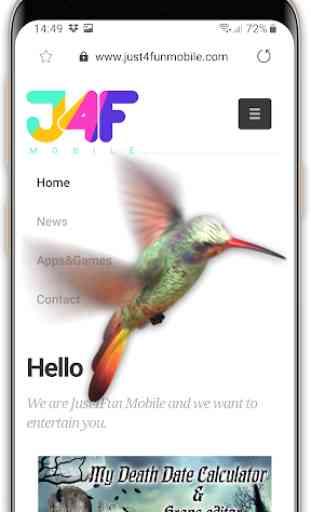 Pájaro en el teléfono: colibrí volador broma 3