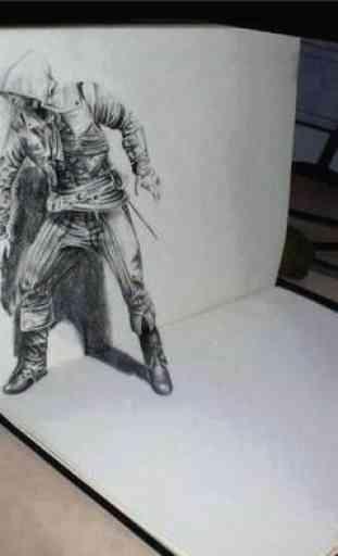 Diseño de dibujo 3D 3