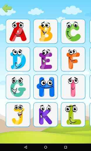 Los niños aprenden animales y letras - fonética 2