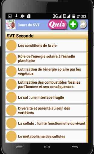 Cours de SVT 4