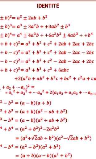 Fonctions et Formules mathématiques 2
