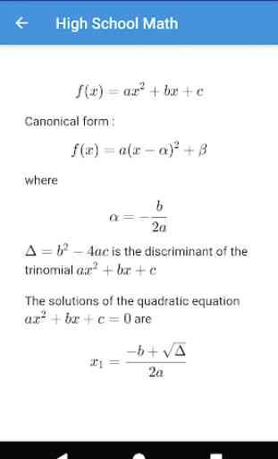 High School Math 2