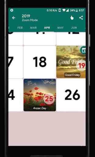 Australia Calendar - Holiday & Note (2020) 3