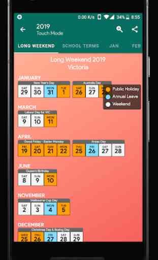 Australia Calendar - Holiday & Note (2020) 4