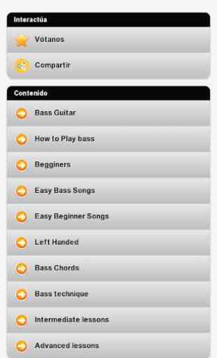 Aprender a tocar el bajo 1