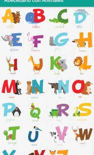 Abecedario con Animales Alfabeto Español Infantil 1