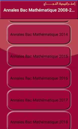 Annales Bac Terminale S  France Math 1998-2018 2