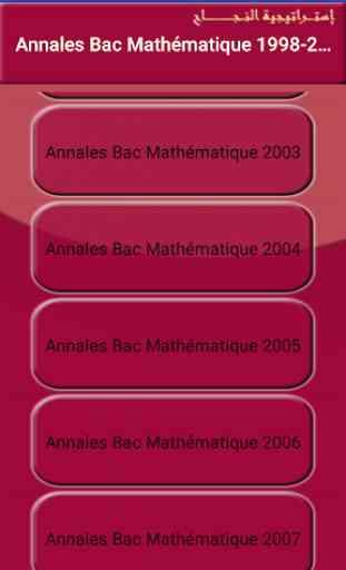 Annales Bac Terminale S  France Math 1998-2018 3