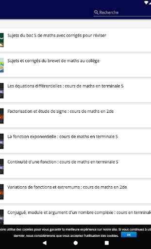 Maths : cours et exercices corrigés 4