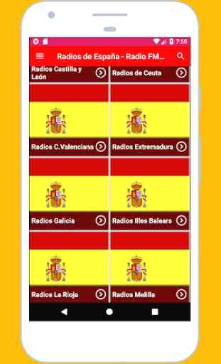 Radios de España - Radio FM España + Radio España 2