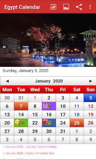 Egypt Calendar 2020 1