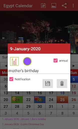 Egypt Calendar 2020 2