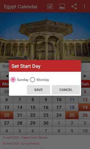 Egypt Calendar 2020 3