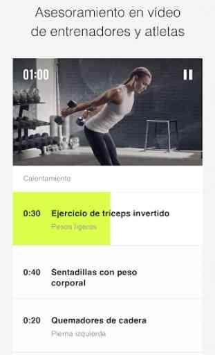 Nike Training Club: entrenamientos y programas 1
