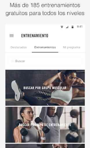 Nike Training Club: entrenamientos y programas 2